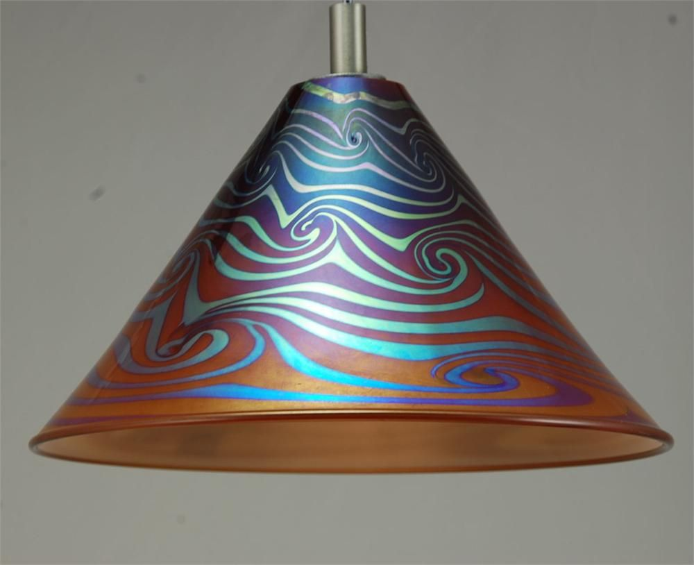 68 best glass images on pinterest hand blown glass blown glass pendant light hand blown glass mini cone coffee wave by artist rick strini mozeypictures Images