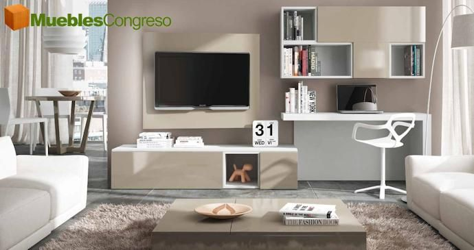 Visite nuestras composiciones de muebles para salones for Muebles de salon modernos