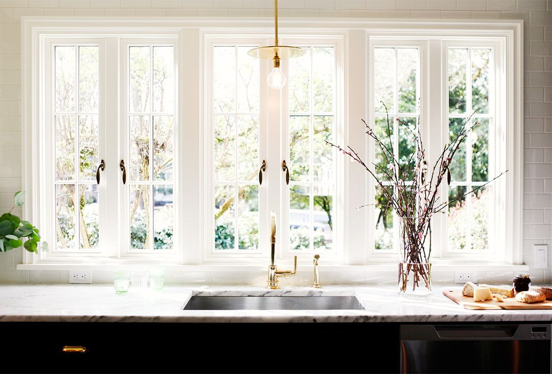 Window for kitchen  before and after a crowded kitchen gets a classic redesign