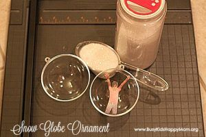 DIY Photo Ornaments with a Snow Globe - Busy Kids