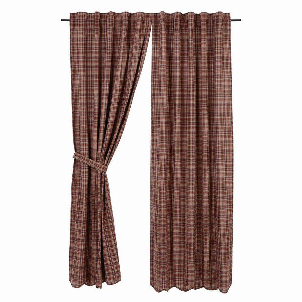 Parker Scalloped Lined Panel Curtains 84 Vhc Brands Lined Curtains Panel Curtains