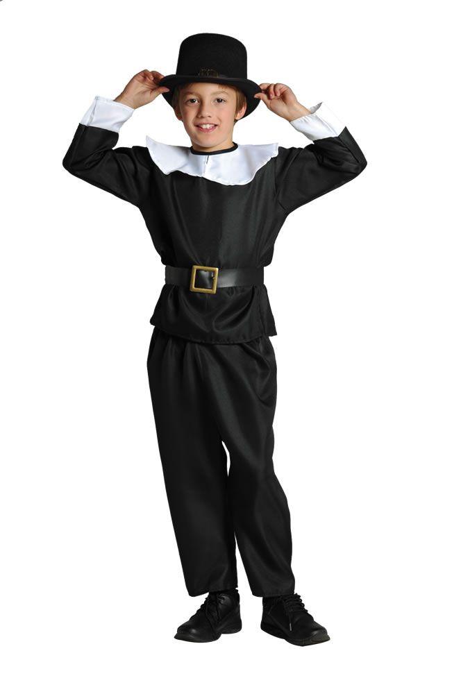 Pilgrim Boy Costume Colonial Times