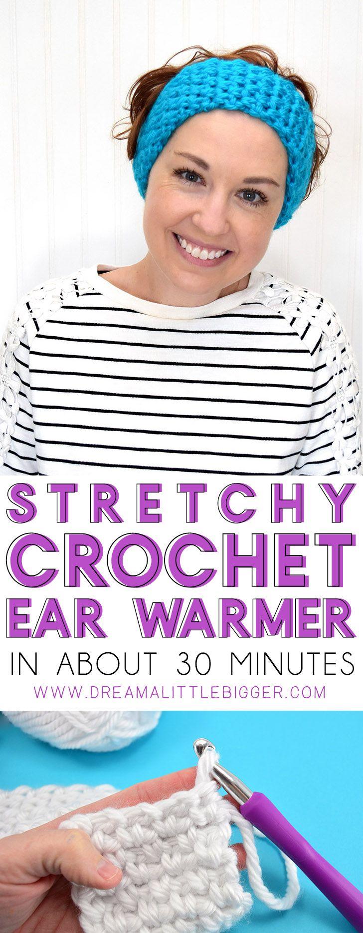 How to Crochet a Stretchy Ear Warmer | Pinterest | Gorros y Tejido