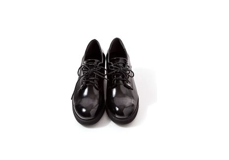 Low Heeled Patent Oxfords