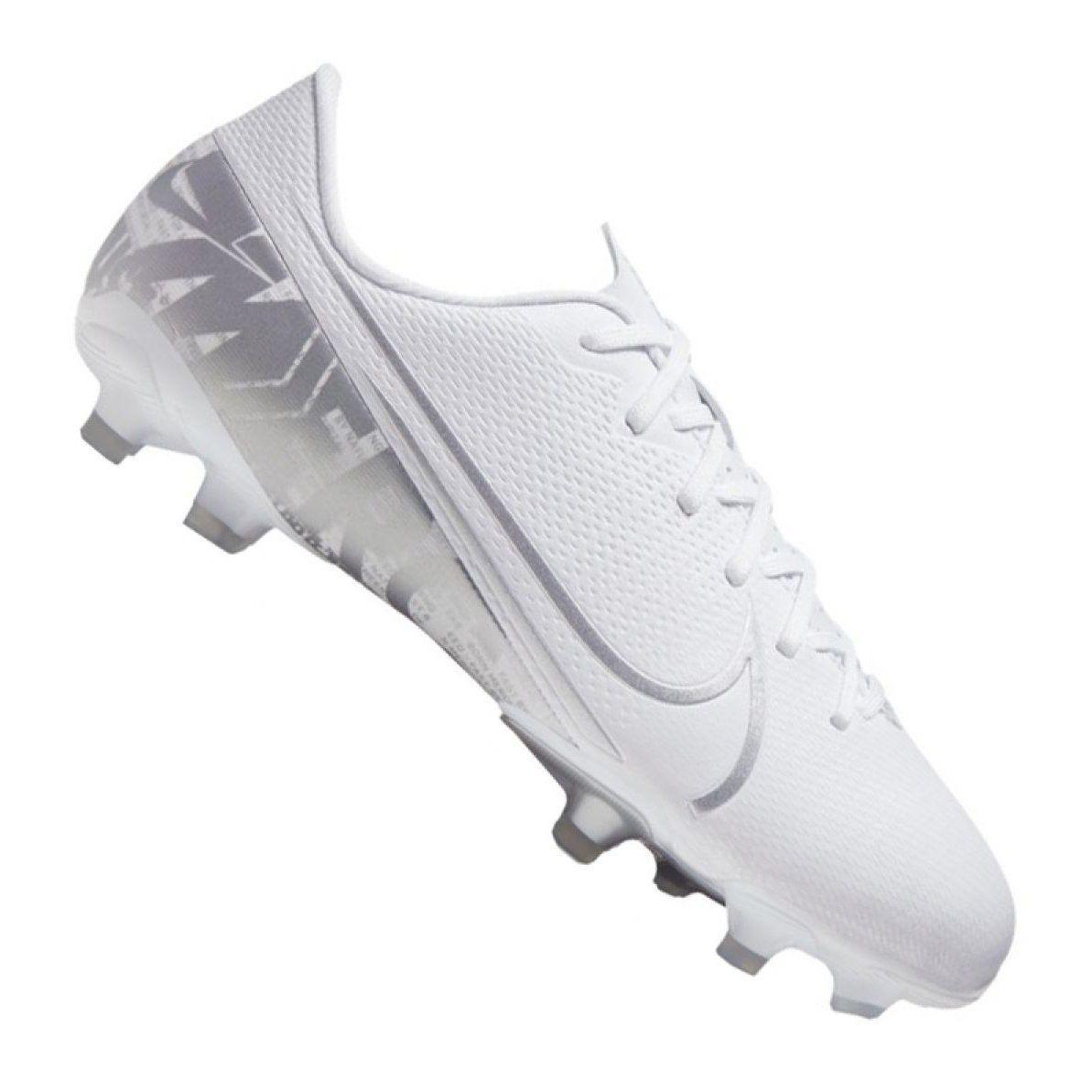 Nike Jr Vapor 13 Academy Mg Jr At8123 100 Football Shoes White White Football Shoes Junior Shoes Shoe Feature