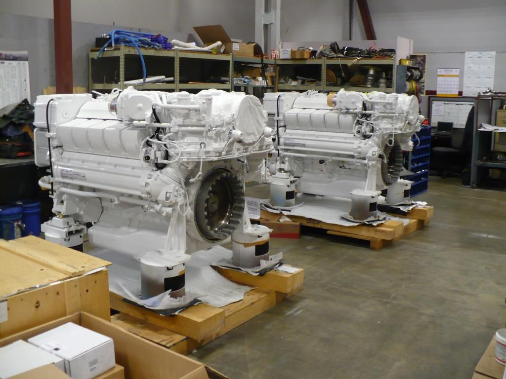 Pair of mtu 2000 common rail engines for westport yacht