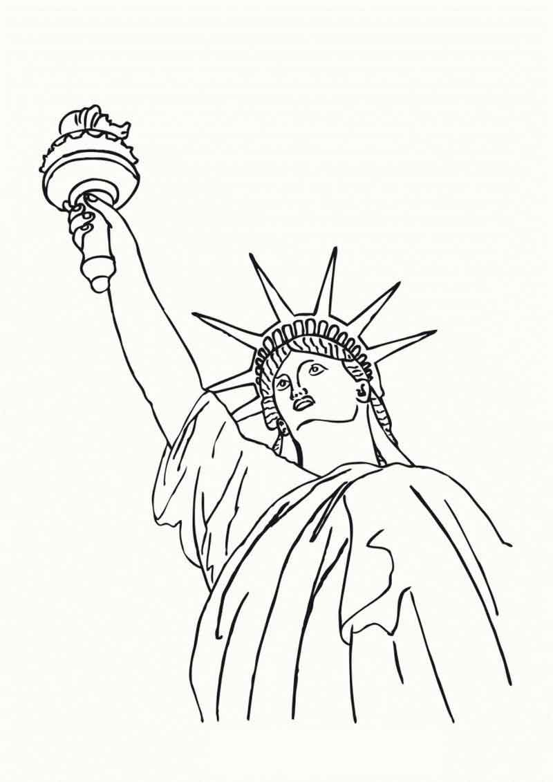 Statue Of Liberty Coloring Pages Images From History Coloring