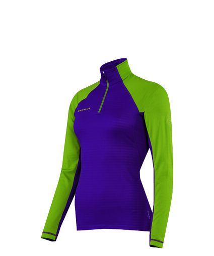 Illiniza #Zip #Pull #Women #Mammut Tight-fitting, elastic, waffle fleece long-sleeve with an antibacterial treatment. The moisture transporting fabric keeps the body dry for longer and prevents quick cool-down.