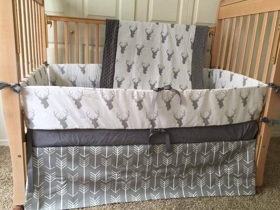 Deer BeddingStagBuckBaby BeddingCrib BeddingCrib SetBaby - Baby boy deer crib bedding sets