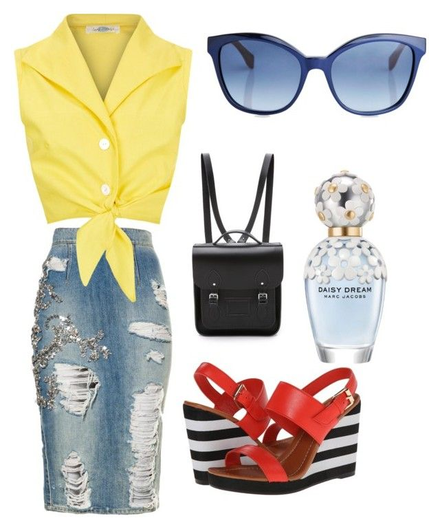 """""""jaazzin up jeans skirt"""" by tameka-norman on Polyvore"""