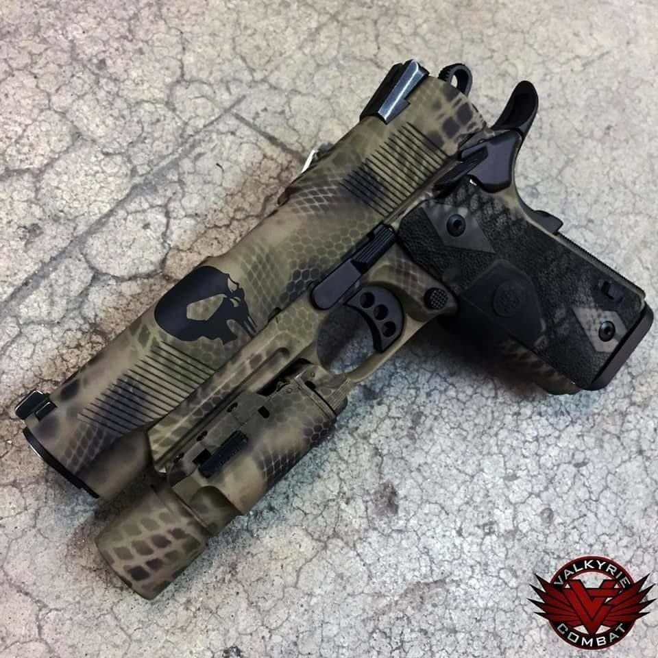 Nice paint job hand guns guns military guns
