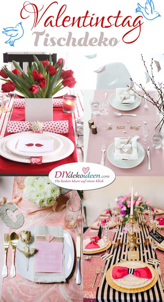 Valentinstag Tischdeko, Romantische Tischdeko, Valentinstag Tisch Deko,  Tischdeko Idee, Tischdeko Zum Valentinstag
