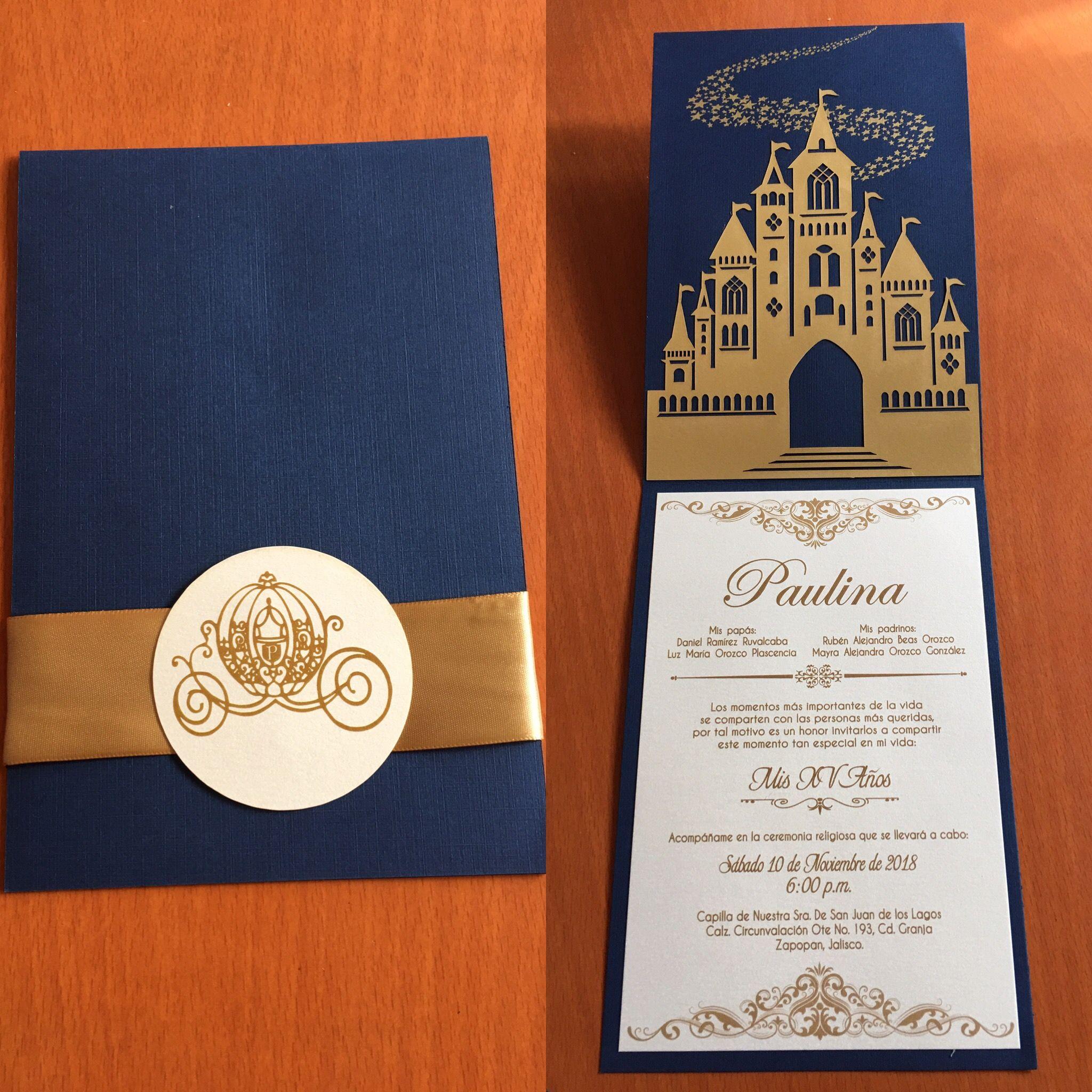 Invitación Xv Años Cenicienta Invitaciones15años Princesa