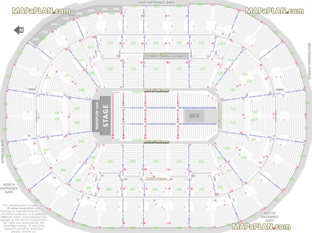 Moda Center Seating Chart With Rows