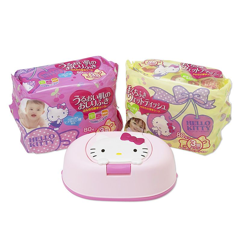 Hello Kitty wipes and wet tissue set Sanrio online shop - official mail order site