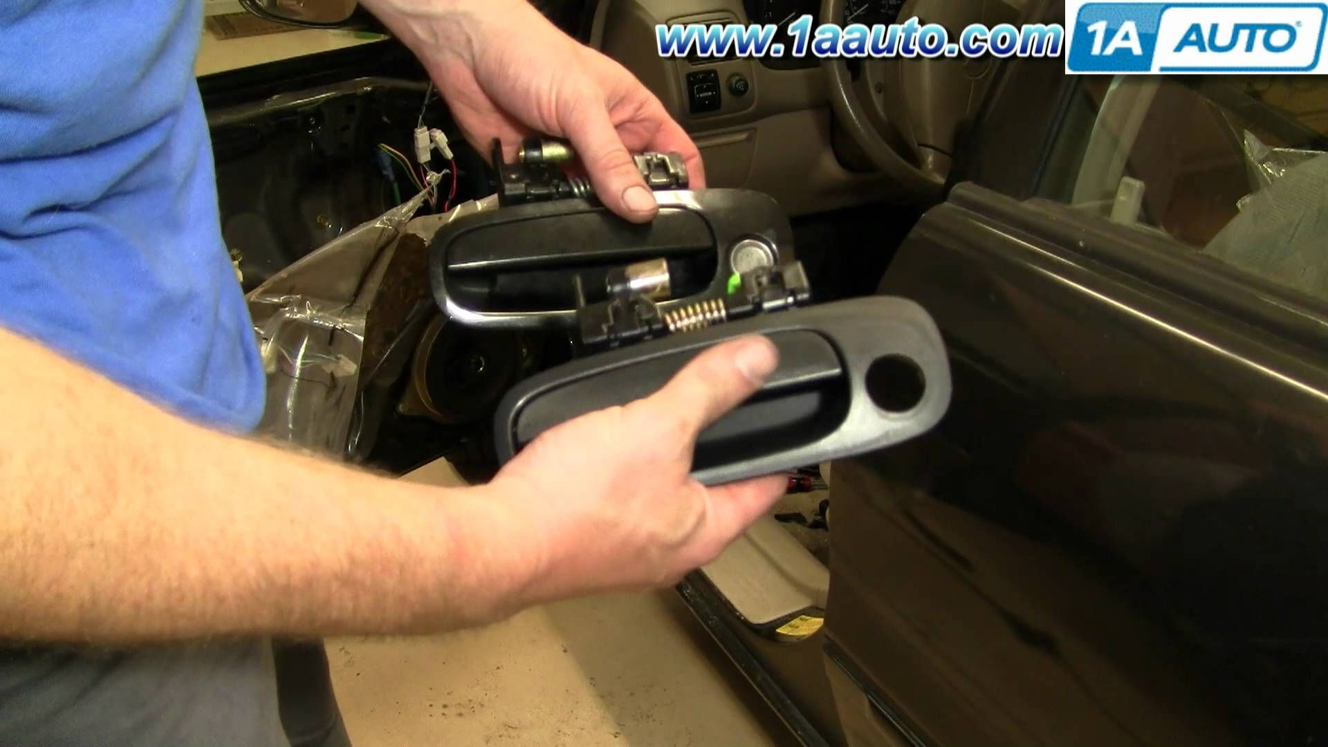 small resolution of how to install replace broken exterior front door handle toyota corolla