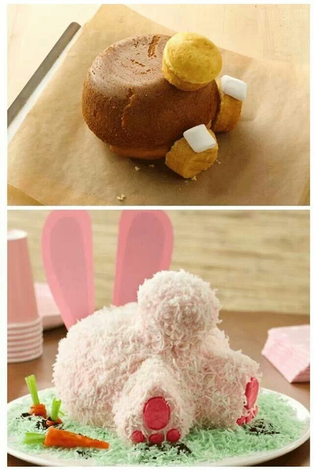 Bunny Butt Cake with no coconut for Eves smash cake Auntie Em