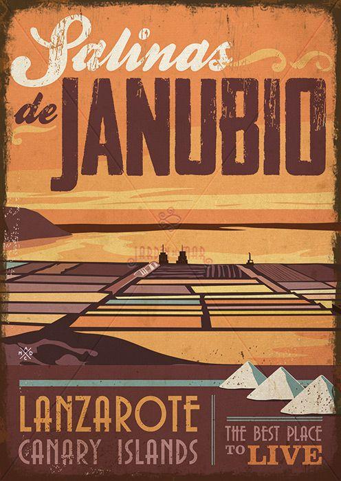 Handmade Drawing Of Vintage Signs Salinzas De Janubio Lanzarote