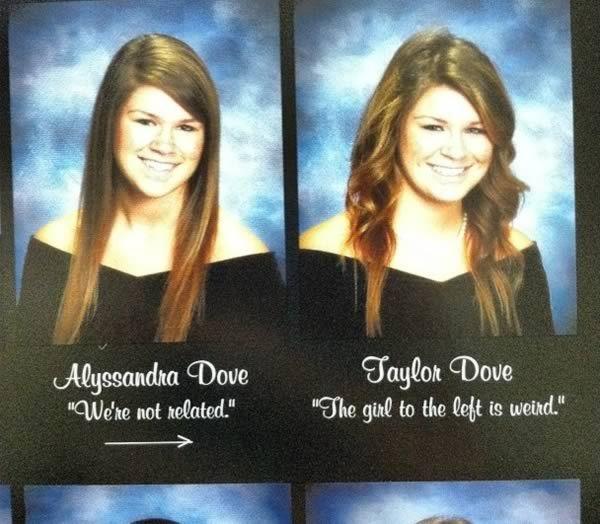 Fonkelnieuw 10 Hilarious Twins In Yearbooks - yearbook, senior quote, twins BK-63