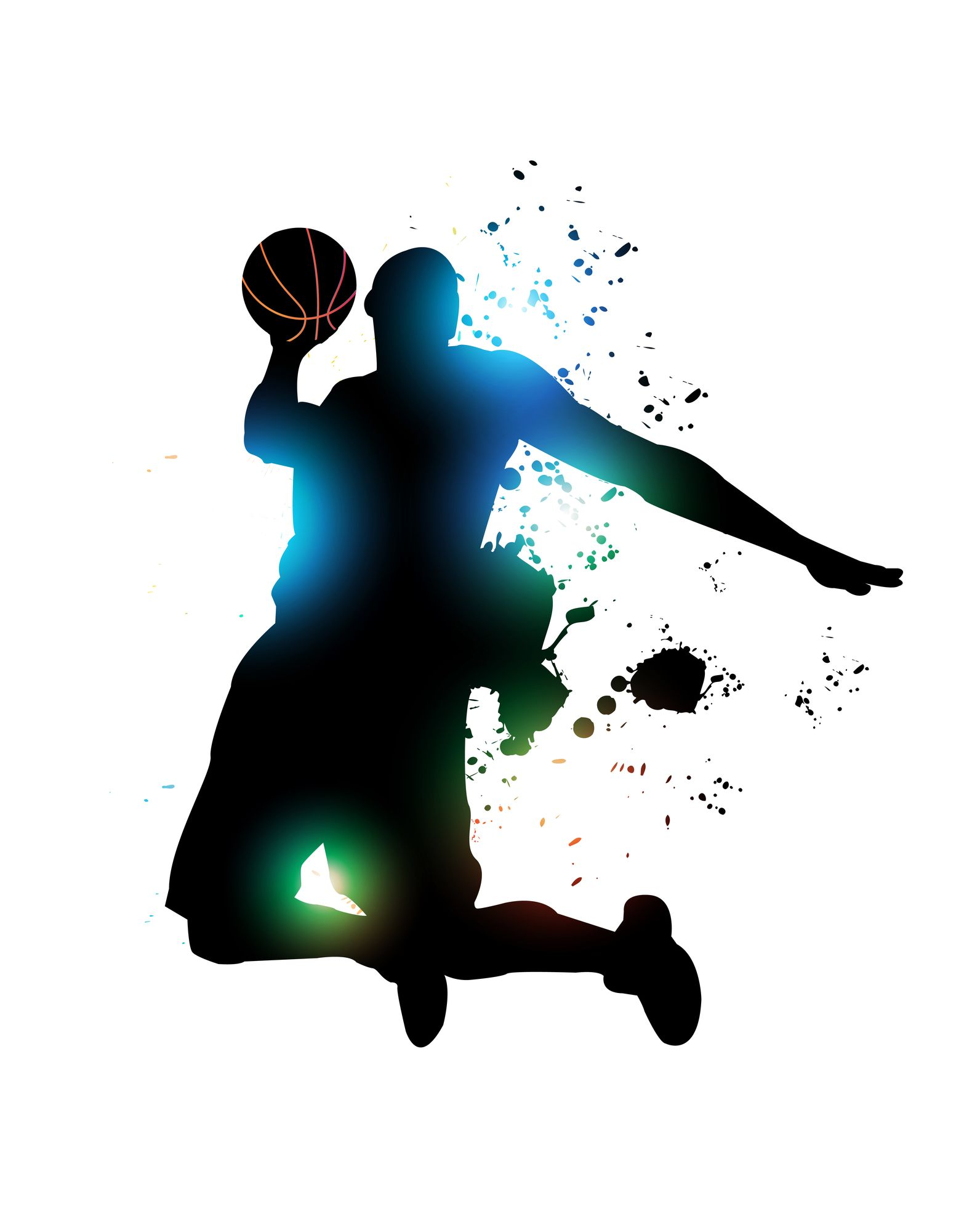 Abstract Basketball Player Vector Background Basketball Players Street Game Sports Video Game