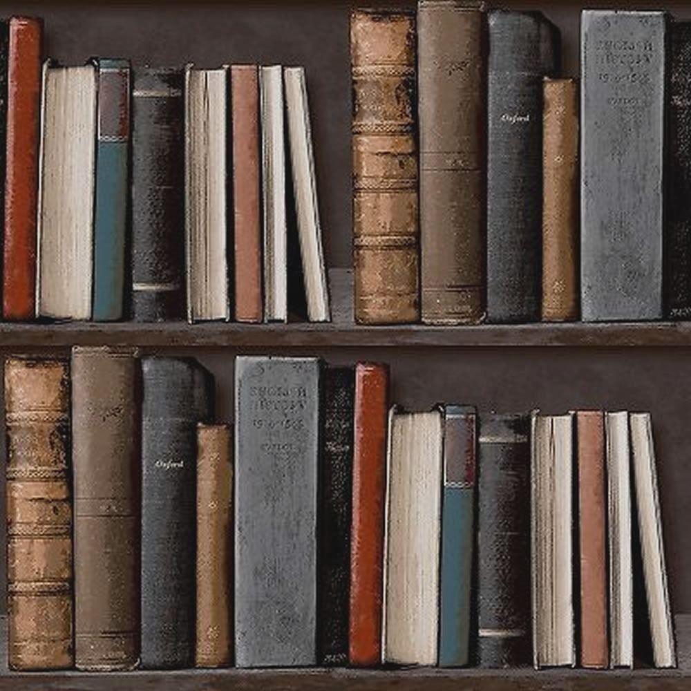 Tapete Bücherregal bücher tapete vlies mustertapete bücherregal voc 01 01 5 bunt