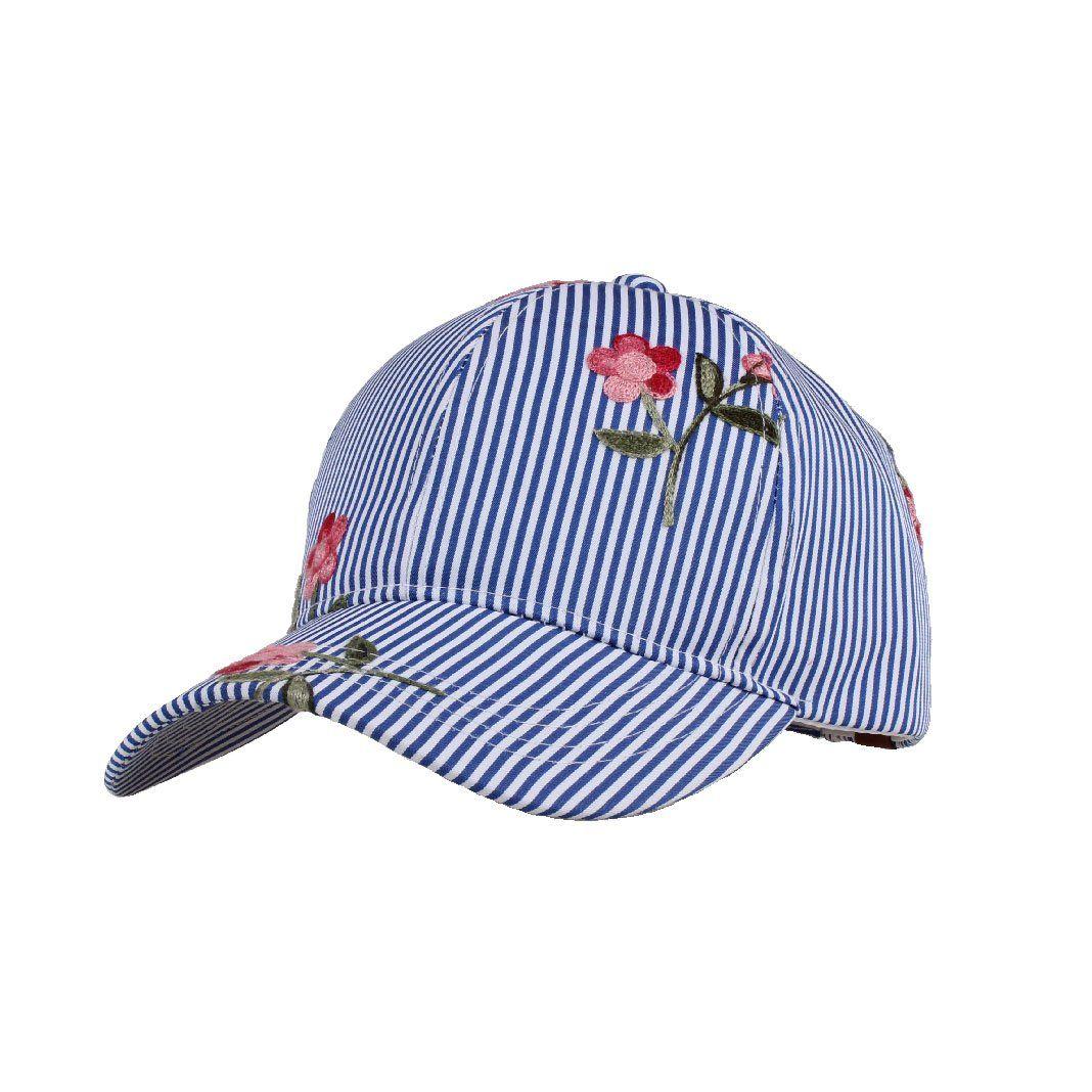 SERYU Denim Cap Women Men Embroidered Flower Fashion Baseball Cap Topee