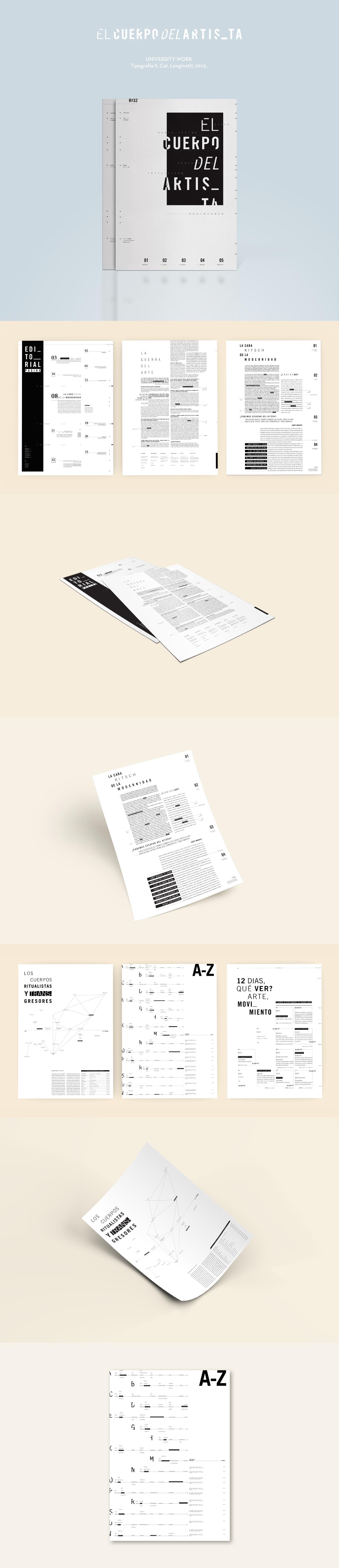 el cuerpo del artista / editorial design on Behance