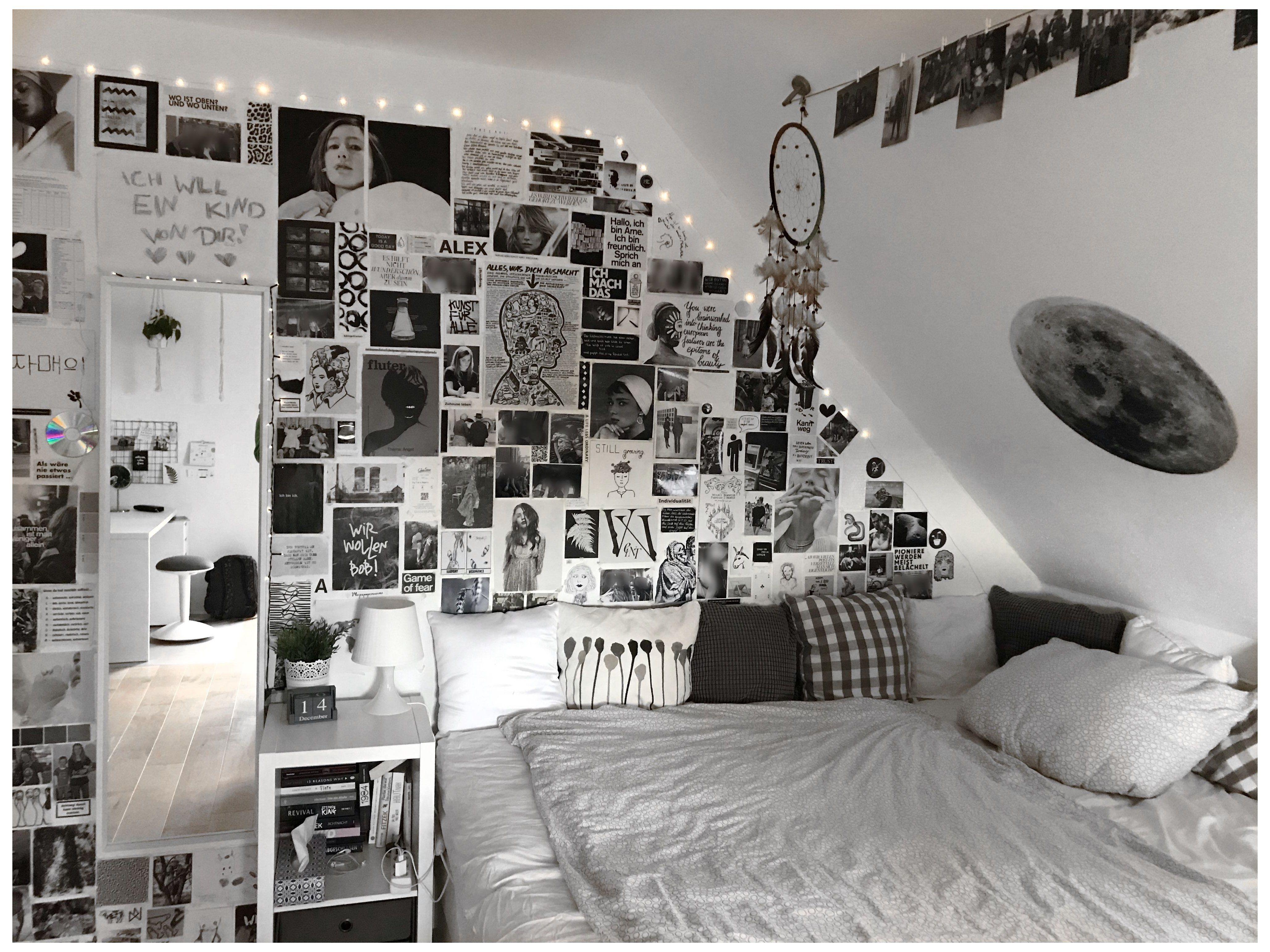 Pin By Katelyn On K N Apartment In 2021 White Room Decor Black Room Decor Aesthetic Bedroom