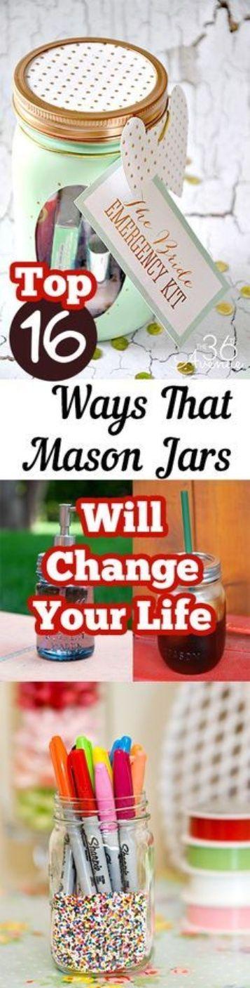 Top 16 Ways That Mason Jars Will Change Your Life – Artesanato Para Vender Blog