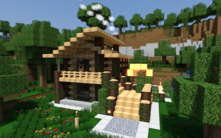 Collection of modern minecraft houses awsemness - Minecraft holzhaus ...