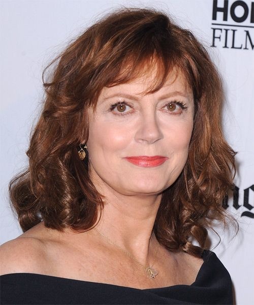 Susan Sarandon Hairstyle Medium Wavy Casual Medium Red Wavy Hairstyles Medium Susan Sarandon Hair Styles