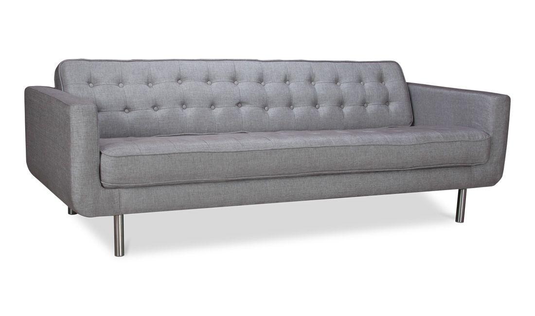 971846aea99eda 3-Sitzer Sofa Kenley Silber günstig online kaufen - FASHION FOR HOME ...
