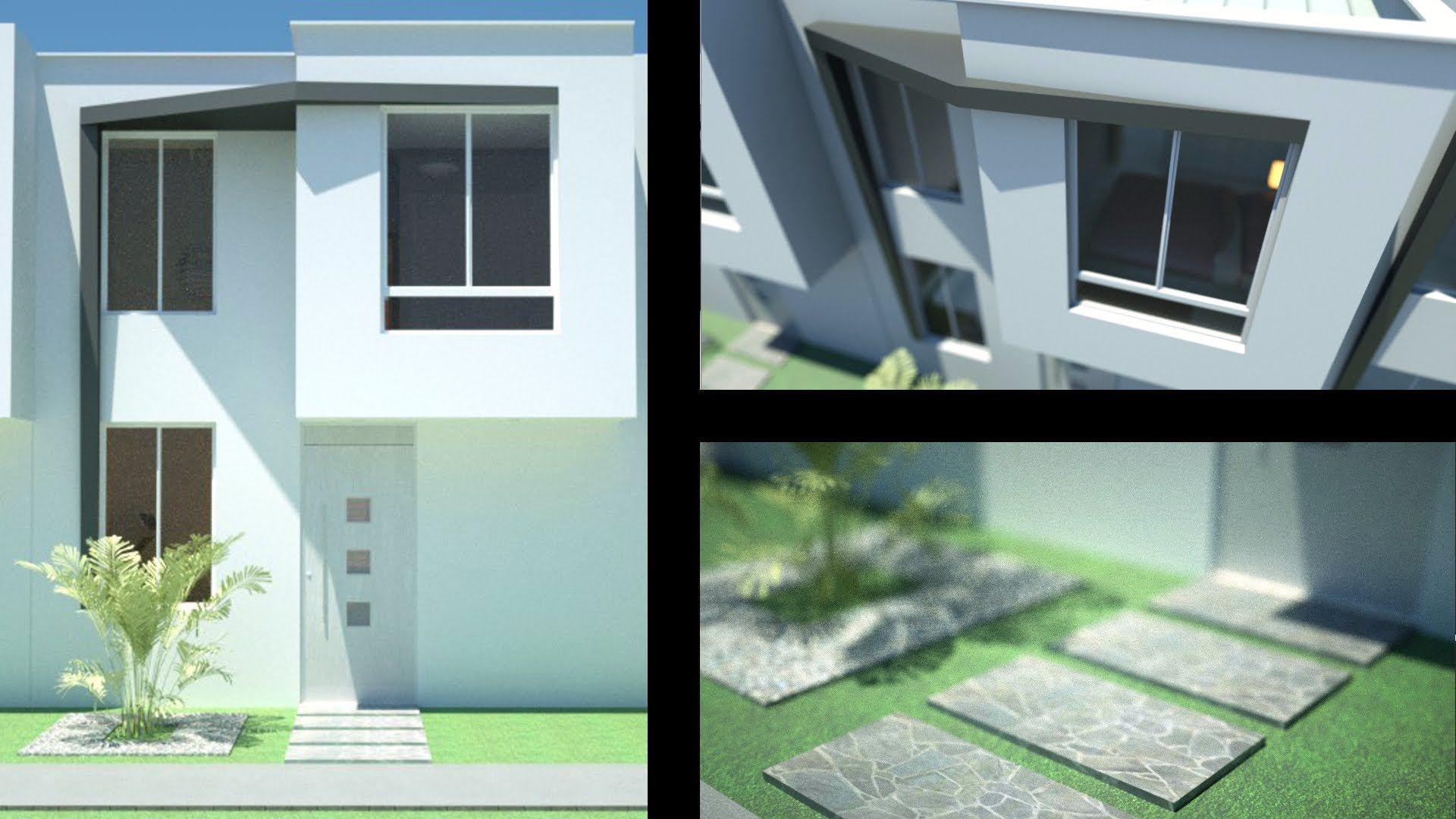 Planos casa moderna de 2 pisos m x m m for Casas dos pisos modernas