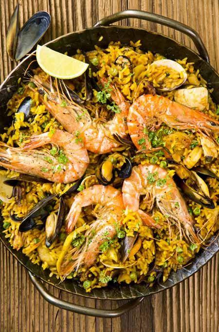 Seafood Paella  Recipe in 2019  Food  Paella Recette