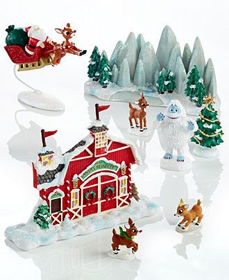 Department 56 Rudolph Village Collection - Christmas Decorations - christmas decorations sale