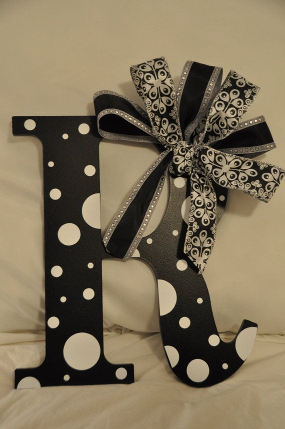Letters To Hang On Front Door Part - 34: 1000+ Ideas About Letter Wreath On Pinterest | Yarn Covered Letters, Wreaths  And Monogram