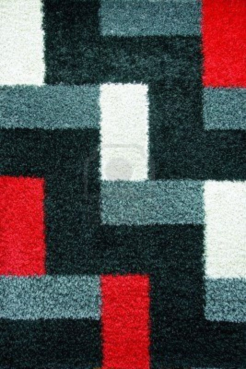 Modern shaggy carpet with geometric pattern geometric for Modern carpet design texture