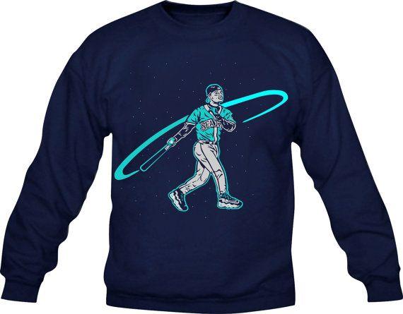 Ken Griffey Jr. Swingman Seattle Mariners Crewneck Sweatshirt by  CoastalClothingCo. fac4f6bec