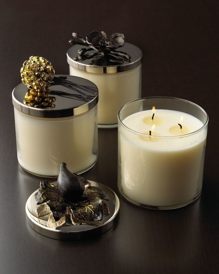 Michael Aram Black Orchid Candle - they're a bit pricey but I love the scent!  Soy wax/made in the USA     Candles are a great gift idea for the Holiday Season and make the home smell so wonderful!