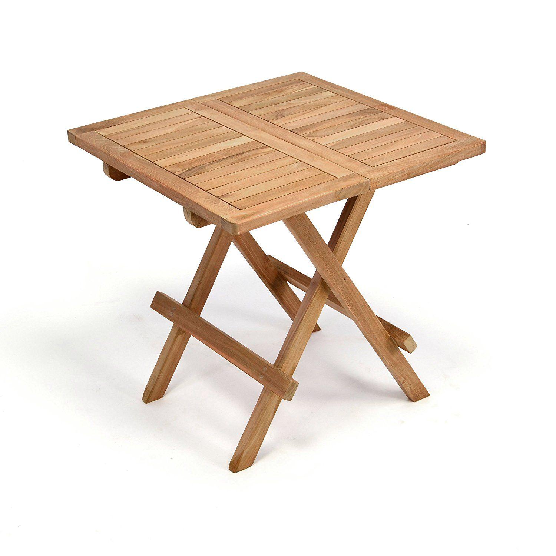 Amazon De Divero Balkontisch Gartentisch Tisch Beistelltisch Holz
