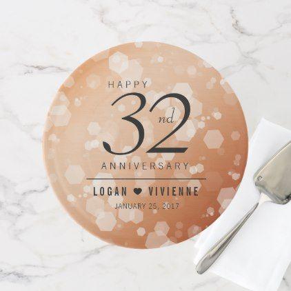 Elegant 32nd Bronze Wedding Anniversary Cake Stand - anniversary gifts ideas diy celebration cyo unique