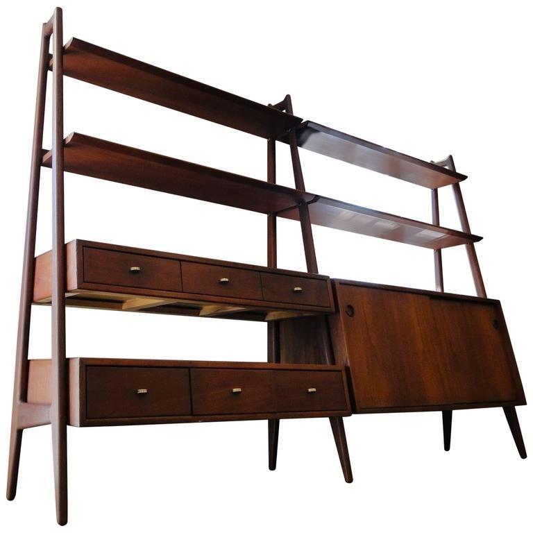 teak book shelf bookcase designed by arne vodder for vamo modern century