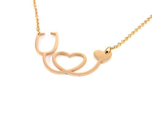 Handmade Jewelry Stethoscope Necklace Heart Necklace Stainless Steel