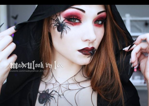 Spider queen face paint | Face Painting - Halloween | Pinterest ...