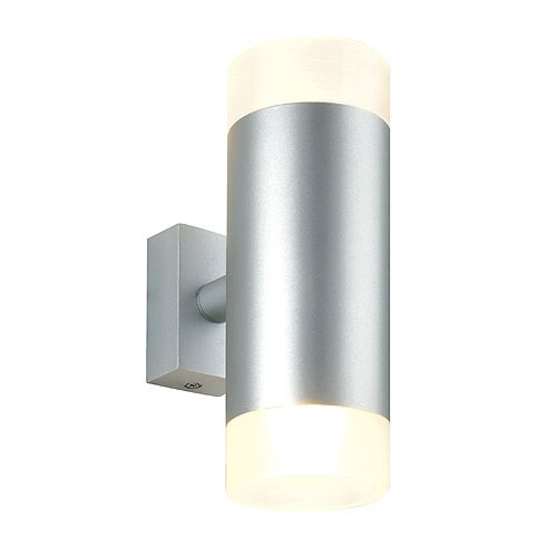 Astina Up Down Wall Light Round Silver Grey 2x Gu10 Max 2x 50w Frosted Glass The Astina Up Down High V Up Down Wall Light Wall Lights Wall Wash Lighting