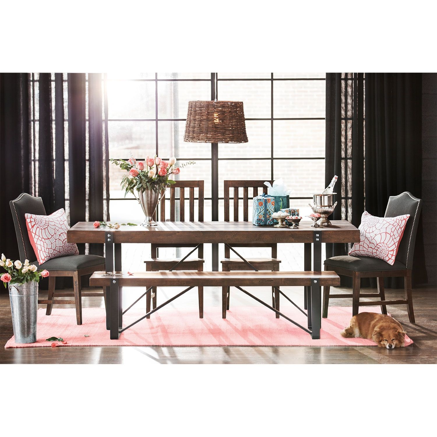 Dining Room Furniture  Ronan Plank Dining Table  For The Home Impressive Plank Dining Room Table Inspiration