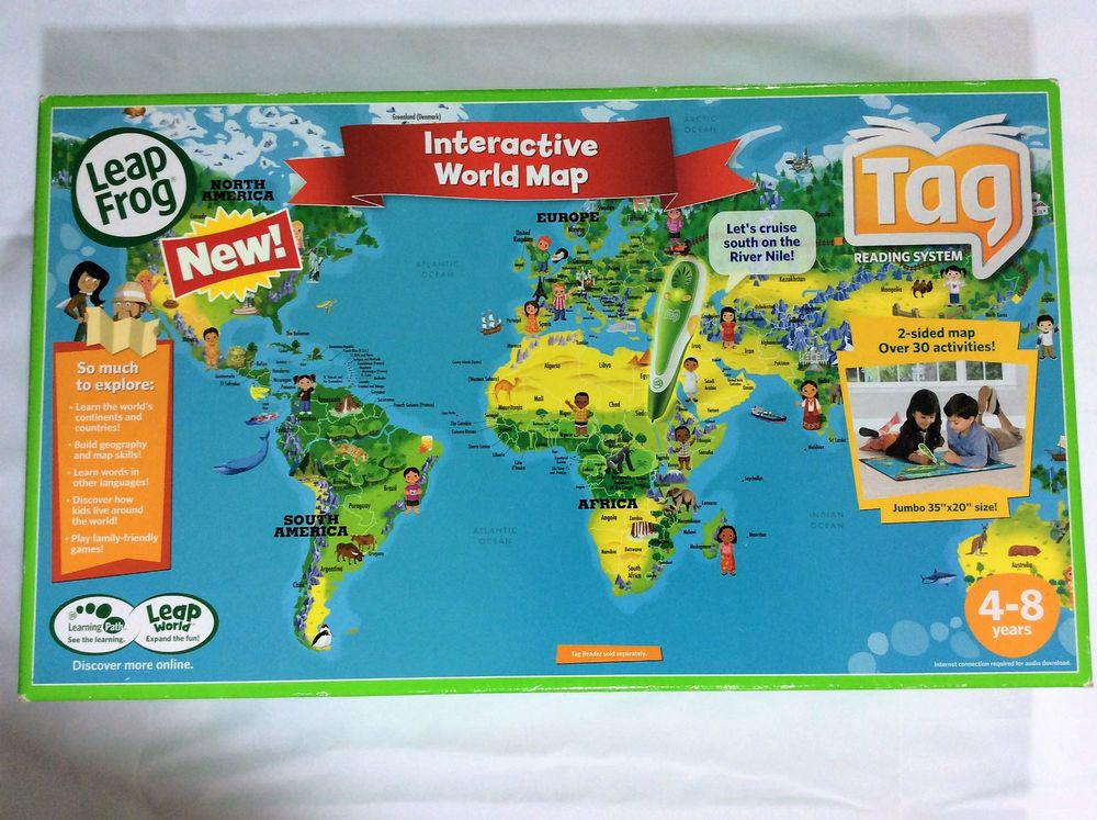 Leapfrog tag interactive united states map 2 sided over 45 leapfrog tag interactive united states map 2 sided over 45 activities leapfrog maps worldmap tag learning reading learningsystem toys gumiabroncs Image collections