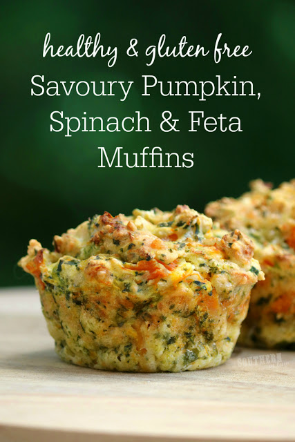 Recipe: Savoury Pumpkin, Spinach and Feta Muffins -  Healthy Savoury Pumpkin Spinach and Feta Muffins Recipe – gluten free, healthy savory muffins, cl - #CleanEatingMeals #feta #HealthyVegetableSoups #MeatRecipes #muffins #pumpkin #recipe #savoury #spinach