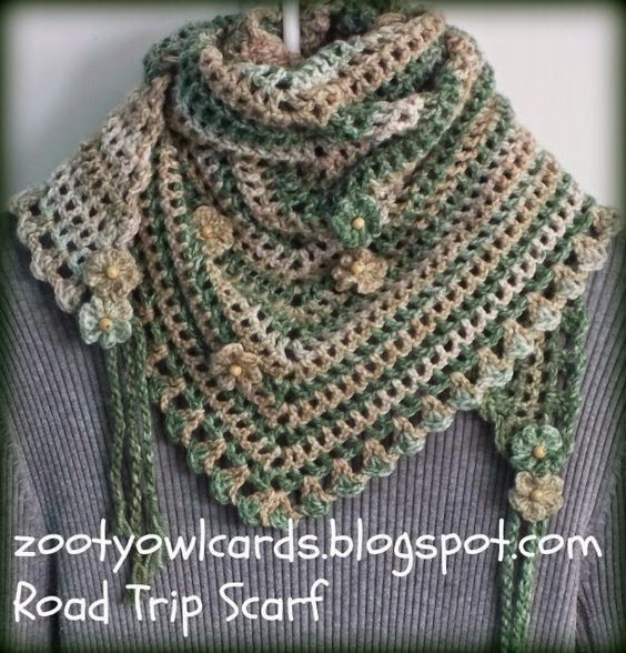 road trip scarf. Simple one row repeat. Free crochet pattern ...