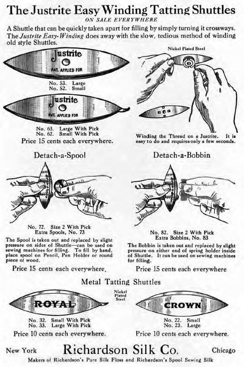 old ad how to use richardson silk in shuttle